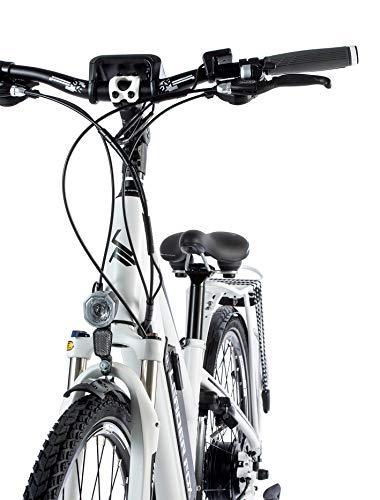 41Q9Pi8gNTL - 28 Zoll E-Bike Leader Fox Damen Elektro Fahrrad Pedelec 21 Gang Akku USB 46cm hoch