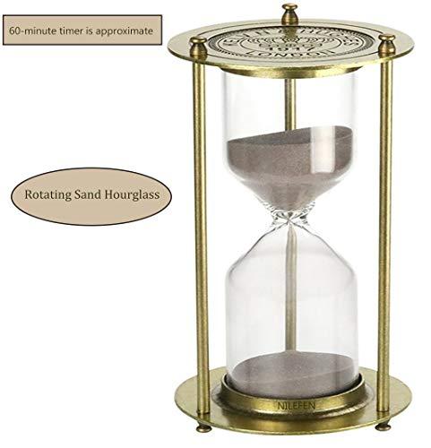 Nilefen - Reloj de arena giratorio (60 minutos), color bronce