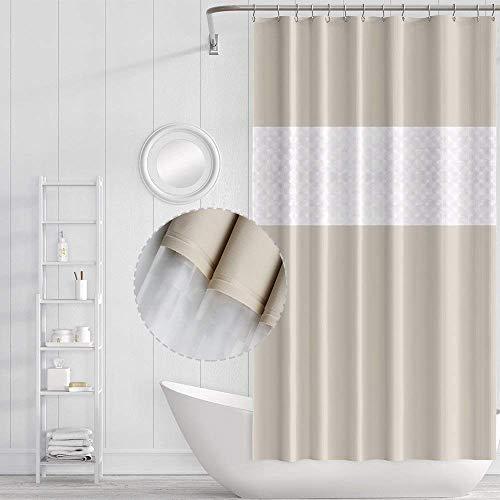 Funria Duschvorhang Mehltau Beständiges Antibakterielles Badezimmer Gardinen mit Haken Wasserdicht Badezimmer Duschvorhänge, 180 x 200CM