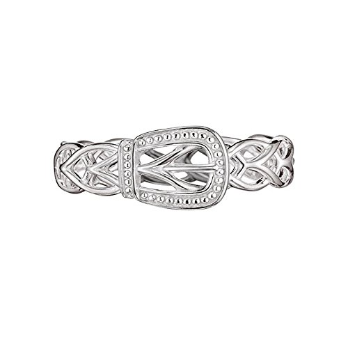 Avon Sterling Silver Braided Buckle Ring - Size 7