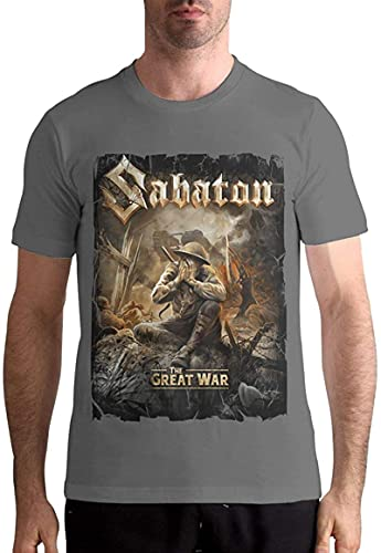IRRI Sabaton T Shirts Men's Tops Short Sleeved Round Neck Cotton Tees