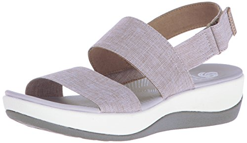 Clarks Women's Arla Jacory Wedge Sandal, Sand, 6.5 M US