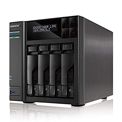 Asustor AS7004T-i5 + Free exFAT License | 3.0GHz Quad-Core, 8GB RAM | Personal Private Cloud | Home or Business Data Media Server | Network Attached Storage