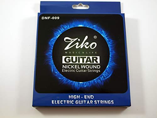 2 Juegos de cuerdas marca Ziko para guitarra eléctrica Modelo DNF-09 Calibre: 009-042 NIKEL