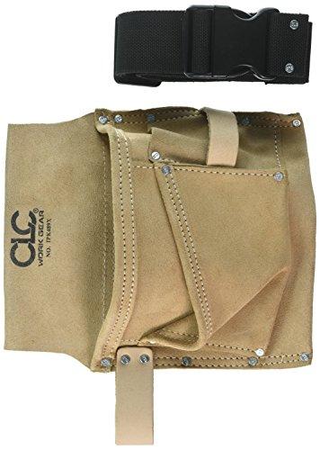 CLC Work Gear IP489X - Bolsa para herramientas y clavos (3 bolsillos, correa de tela)