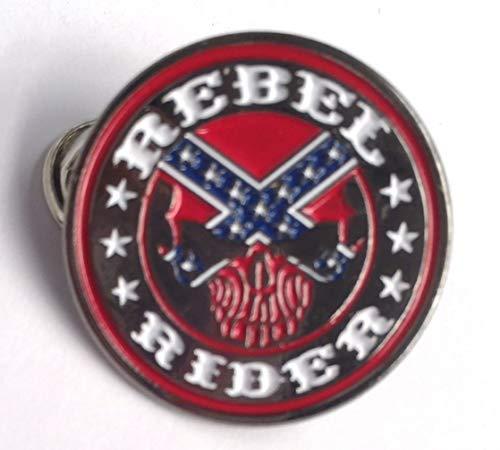 Anstecknadel Bikers Rebel Rider, Metall, Emaille, ca. 25 mm Durchmesser, anlaufgeschütztes Metall, hochwertige Kupplung und Anstecknadel