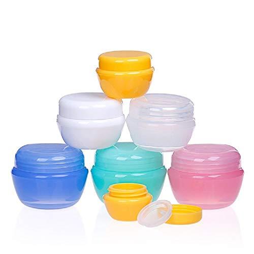 24 Piezas de envases cosméticos vacíos tarros de Viaje de plástico para el Polvo de uñas de Crema de Sombra de Ojos
