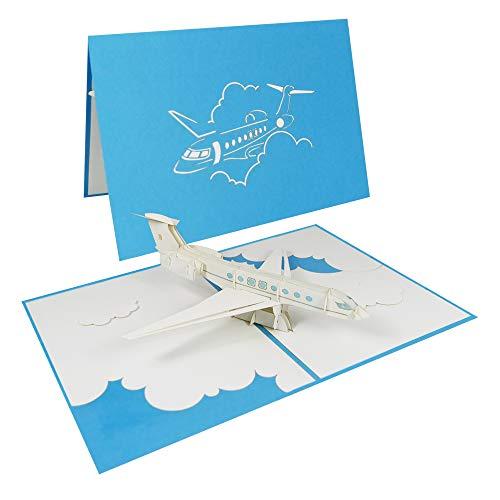 Flugzeug Pop Up Karte Hubschrauber Helikopter Geburtstagskarte Grußkarte Glückwunsch Reise Gutschein Fliegen - Privatjet 170