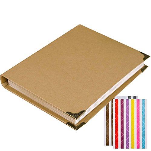 FORUSKY Álbum de fotos de estilo acordeón de 28 x 22 cm, para libros de invitados de boda, regalos de San Valentín