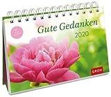 Gute Gedanken - Kalender 2020 - Postkartenkalender - Groh-Verlag - Aufstellkalender - Wochenkalender - Tischkalender mit 53 heraustrennbaren Postkarten und Zitaten - 21 cm x 17 cm