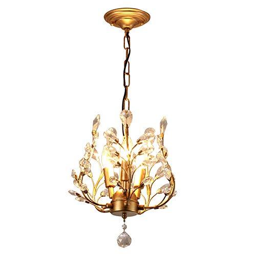 WNN-T Moderna cristalina de las lámparas, la luz colgante de cristal, lámpara de accesorios de iluminación, luz de techo de la sala de estar Dormitorio Pasillo restaurante WNN-T (Color : Gold)