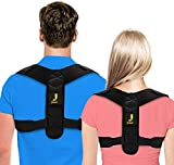 Jotair Posture Corrector for Men and Women Adjustable Upper Back Brace for Clavicle Support and Providing Pain Relief from Neck, Back and Shoulder