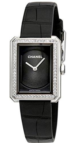 CHANEL boy-friend nero guilloche quadrante orologio H4883