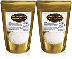 Gold Standard Organic Sulfur Crystals 2lb - 99.9% Pure MSM Crystals - Largest Granular Flakes Available - 3rd Party Tested