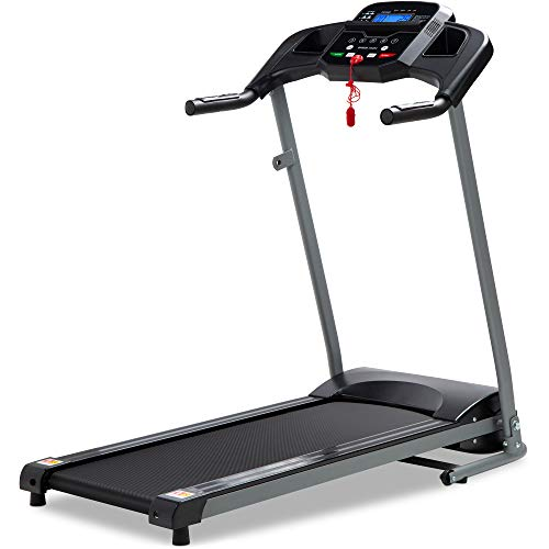 Best Choice Products 800W Folding Electric Treadmill, Motorized Fitness Exercise Machine for Home Gym, Cardio Training w/Wheels, Safety Key, Heart Sensor - Black