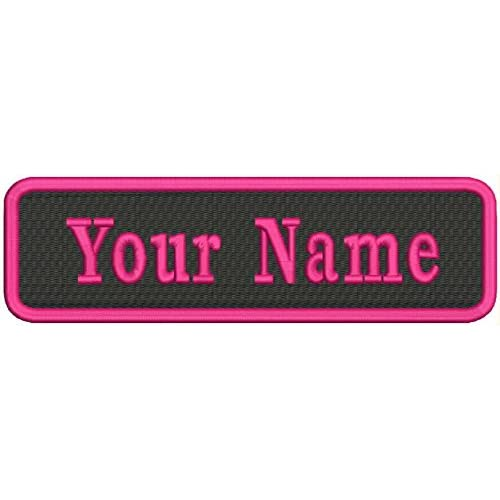 IRON ON NAME PATCH BLUE ON WHITE  1.5  X 3.5 GLORIA  NEW EMBROIDERED SEW