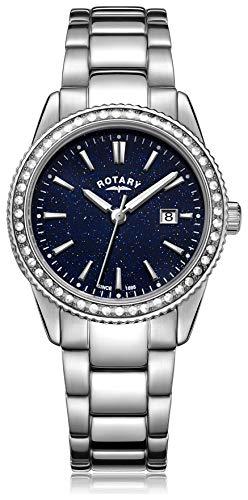 Orologio rotativo da donna con effetto avventurina blu. LB03035 67
