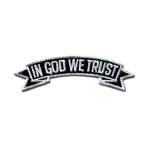 BASTION Morale Patches (in God We Trust, Black) | 3D Embroidered Patches with Hook & Loop Fastener Backing | Well-Made Clean Stitching | Christian Patches for Tactical Bag, Hats & Vest