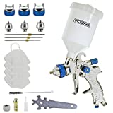 Tooltime. Voche 600cc HVLP Gravity Feed Spray Gun Paint Spraying Kit with 3 Nozzles