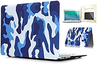"Camouflage Design Rubberized Hard Shell Case cover Protector for Apple Macbook Air 11""-Blue"