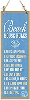 Rustic Style Signs Beach House Rules Decorative Sign Blue (15