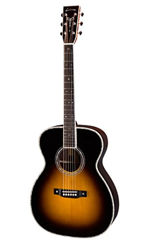 Eastman E40OM-SB Orchestra Model Guitar with hard case, Sunburst