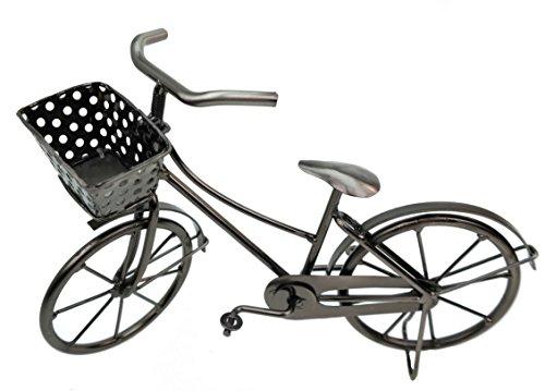 Kremers Schatzkiste Deko Fahrrad mit Korb aus Metall Dekoration Geldgeschenk Bike