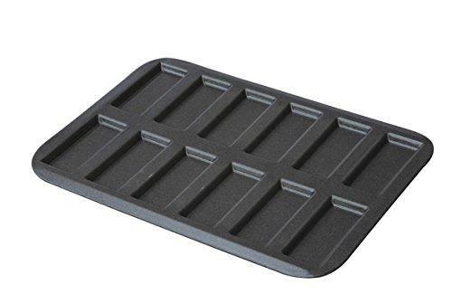 LOUIS TELLIER - Plaque à Mini Financiers/Biscuits Rose de Reims Professionnelle - Anti Adhérent - Démoulage Rapide et Parfait - 12 empreintes - Excellente conductivité thermique - Fabriqué en France