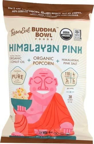 Lesser Evil Popcorn Buddha Bowl Himalayan Pink 5 oz ( Pack of 6)