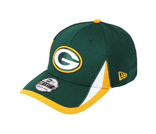 New Era 39Thrity Men's Hat NFL Green Bay Packers Training Green Headwear Flex Cap (Large/X-Large)