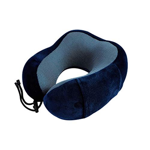 JONJUMP U en forma de espuma de memoria almohadas de cuello suave lento rebote espacio viaje almohada cuello sólido salud cervical ropa de cama