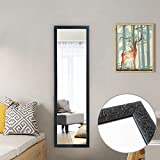 Beauty4U Black Full Length Mirror 127x35.5cm Large Wall or Door Mirror for Living Room or Bedroom