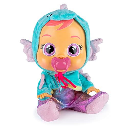 bambola interattiva CRY BABIES Fantasy Nessie Animale Marino - Bambola Interattiva che Piange Lacrime Vere con Ciuccio