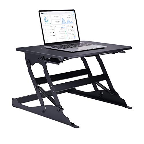 GXC Klaptafel voor computers, multifunctioneel, hoog- en laag, instelbaar, hoogwaardige metalen tafelbok, inklapbare werkkamer-bureau