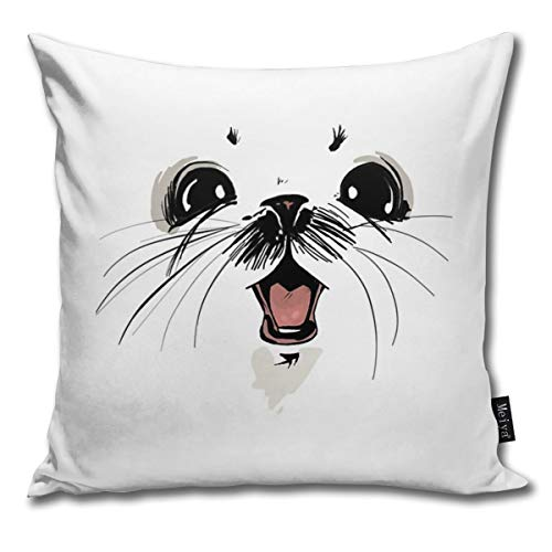 BlueBling Fashion Funny Throw Pillow Covers Ghus Saga Comic Fantacy Printed 18 x 18 Inches Cases Cushion Cover Pillowcases for Home,Indoor,Bed,Gard