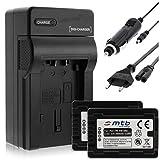 2 Baterías + Cargador (Coche/Corriente) para VW-VBT380 / Panasonic HC-V130, V160, 270, 380, V727. v. Lista! con Infochip