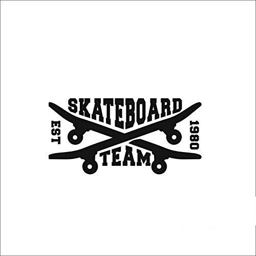 XCSJX Rollschuh Skate Aufkleber Longboard Sport Aufkleber Kinderzimmer Poster Vinyl Pegatina Decor Wandbild Wandtattoos Aufkleber 16x32 cm