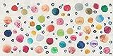 Vilber Gran Chef Dots Alfombra, Vinilo y PVC, Multicolor, 40 x 78 cm