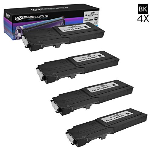 Speedy Inks Compatible Toner Cartridge Replacement for Dell C2660 C2660dn C2665dnf High-Yield (Black, 4-Pack)
