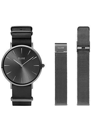 CLUSE Damen Analog Quarz Uhr mit Edelstahl Armband CLG015