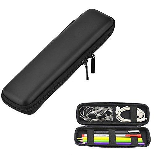 Case Wonder EVA Stifte Etui - Schwarz Leder Maeppchen/Stifteetui/Federmäppche/Tasche für Apple Pencil, e Zigarette, Füllfederhalter, Kugelschreiber, Stylus Touch Pen, Wacom Kreativer Stylus 2