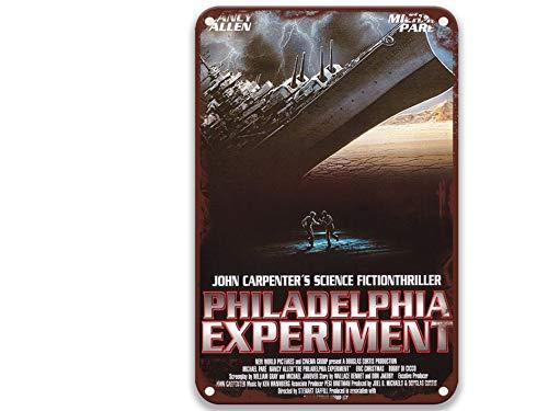 NNHG The Philadelphia Experiment (1984) Cartel de lata con películas vintage sentido del arte para hombre, decoración del hogar, jardín, campo, decoración del hogar, barra de 20 x 30 cm