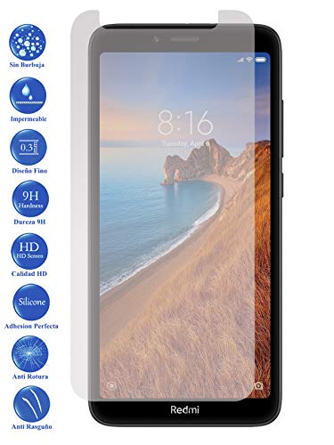Todotumovil Protector de Pantalla Xiaomi Redmi 7A de Cristal Templado Vidrio 9H para movil