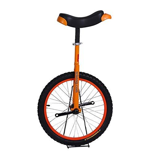 HWF Einrad Kinder 16/18/20 Zoll Rad Freestyle Einrad Orange, mit Sattelsitz Stahlgabel Kurbelrahmen Gummireifen, für Erwachsene Teen Fahrradübung Radtour (Color : Orange, Size : 20 Inch Wheel)