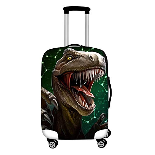HUGS IDEA Dinosaur T-rex Luggage Cover Thick Elastic Suitcase Protector Bag for Travel 26/28/30 Inch