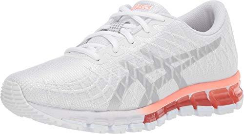 ASICS Women's Gel-Quantum 180 4 Running Shoes, 9M, White/Silver