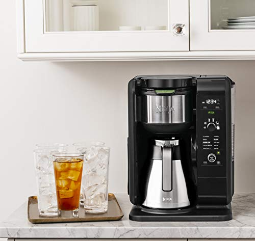 Ninja Hot and Cold Brewed System Auto-iQ Tea and Coffee Maker...