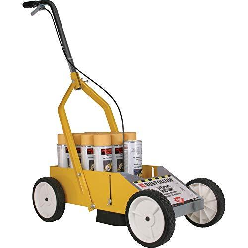 Rust-Oleum 2395000 High-Performance Striping Line Marking Machine, 9' x 27.5', Yellow