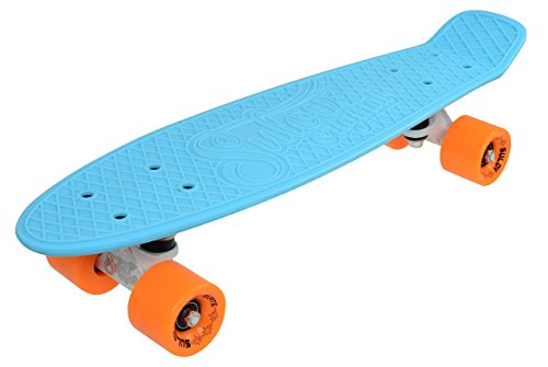 SULOV Penny Board Via Dolce, Blau/Orange, 55 x 14.5 x 12 cm