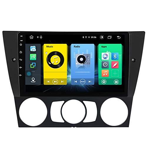 GPS de vehículos estéreo de automóvil adecuado para BMW 3 E90 2005-2013 Coche estéreo SAT NAV Capacitivo Touch HD Carplay Radio Multimedia Multimedia Radio incorporado Tracker,8Core 4G+WIFI:4+64G